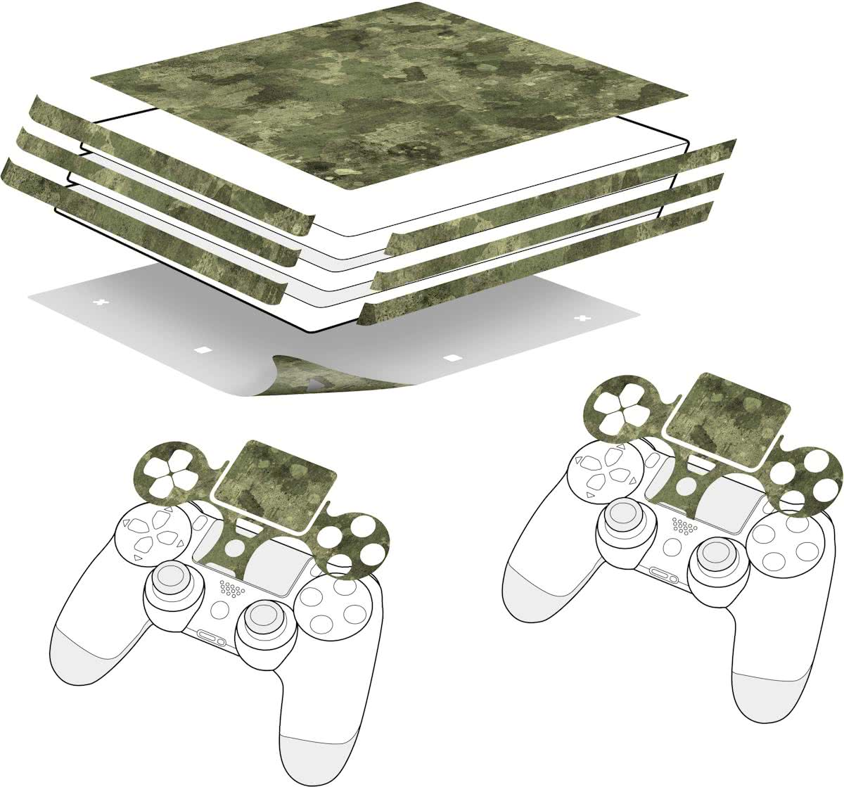 Speedlink - Sticker for PS4 Pro & Controller - Camo