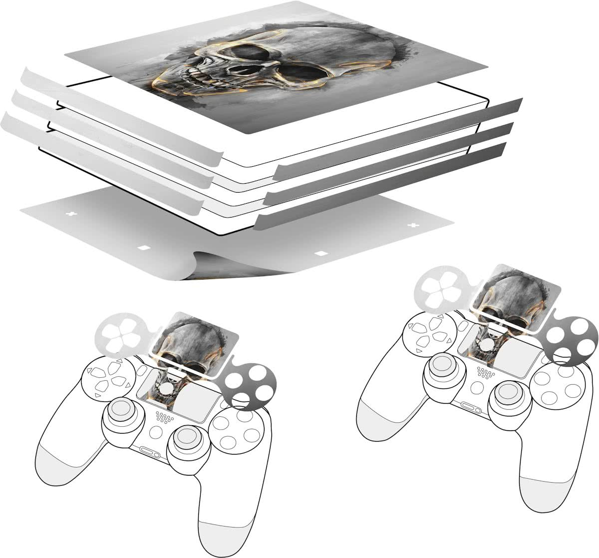 - Sticker for PS4 Pro & Controller - Skull