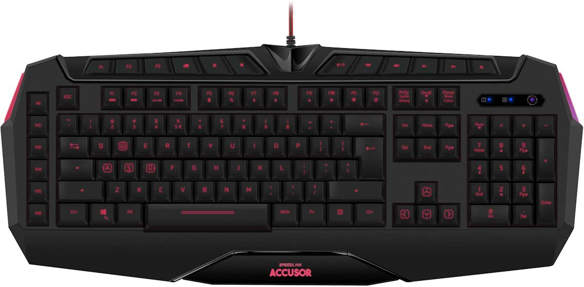 Speedlink ACCUSOR Advanced - Gaming Toetsenbord - Qwerty - PC