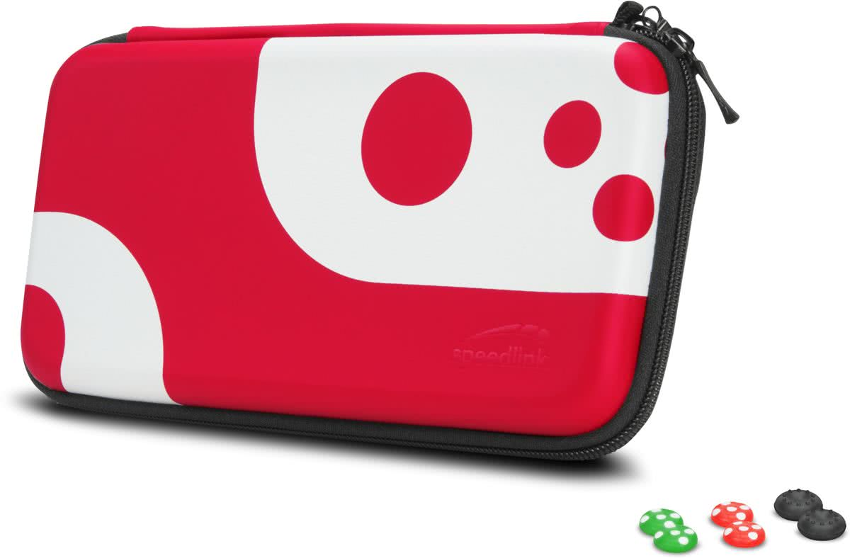 CADDY & STIX - Protect & Control Kit - Nintendo Switch -  Zwart / Rood