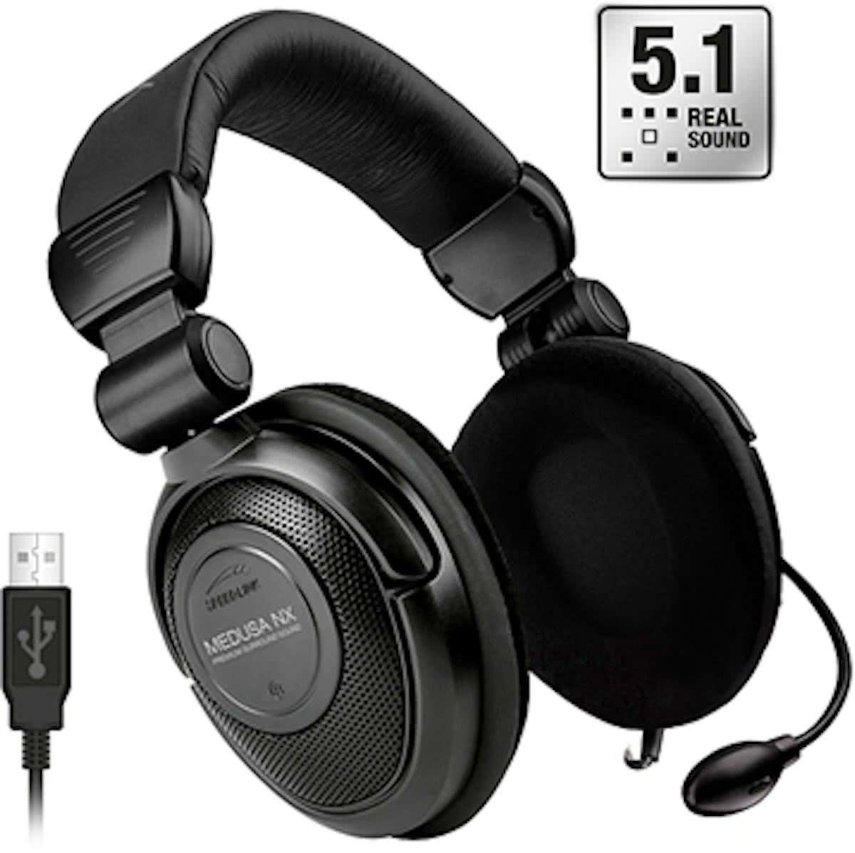 Speedlink: MEDUSA NX USB Surround Headset Zwart