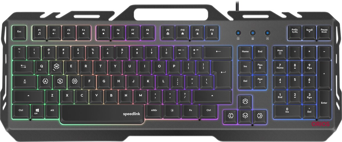 ORIOS - US Qwerty - Metal Gaming Keyboard - Zwart