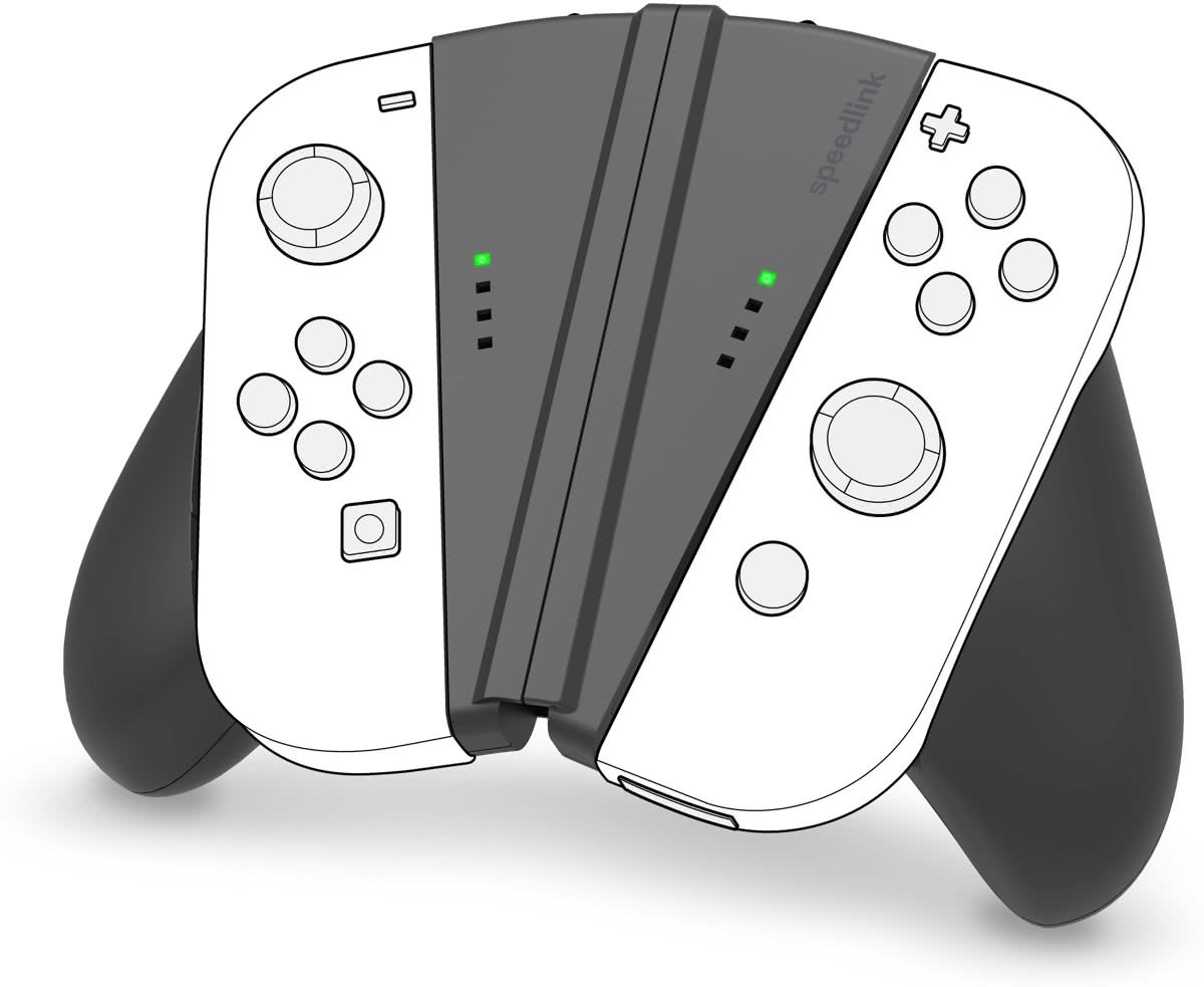 V-GRIP - 2-IN-1 Handle voor Joy-Cons - Nintendo Switch