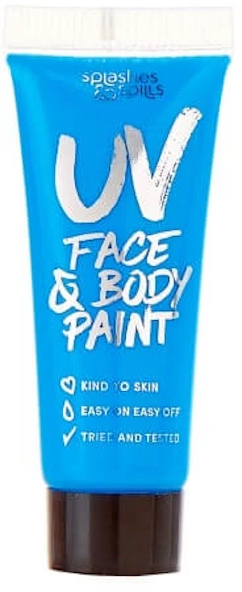 Splashes & Spills 10ml UV Face & Body Paint - Blue