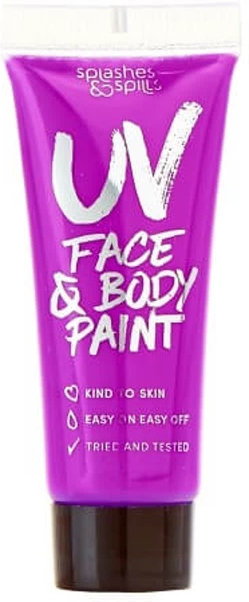Splashes & Spills 10ml UV Face & Body Paint - Purple