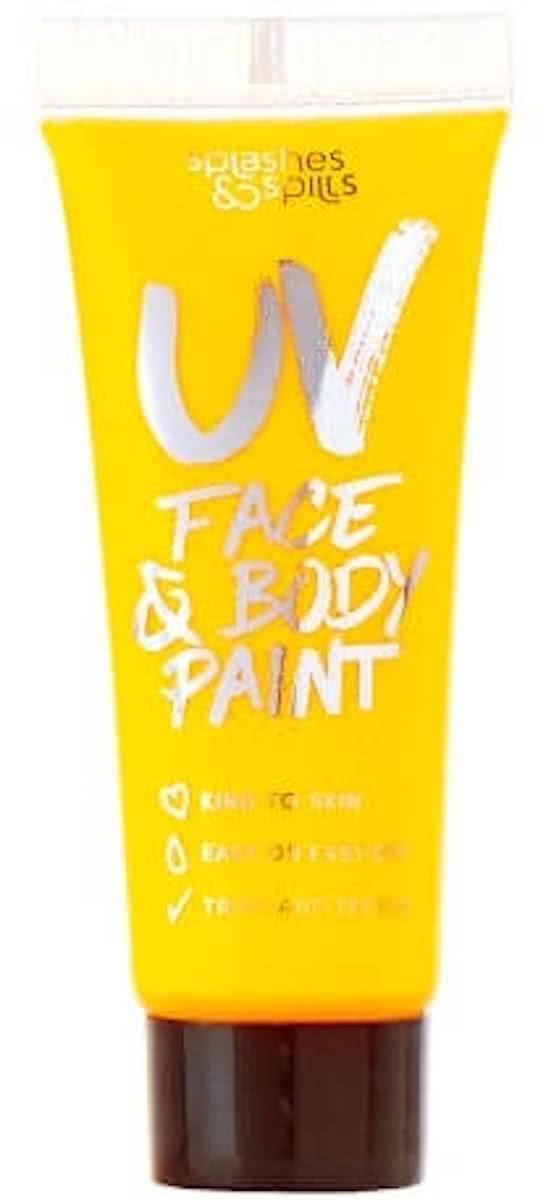 Splashes & Spills 10ml UV Face & Body Paint - Yellow