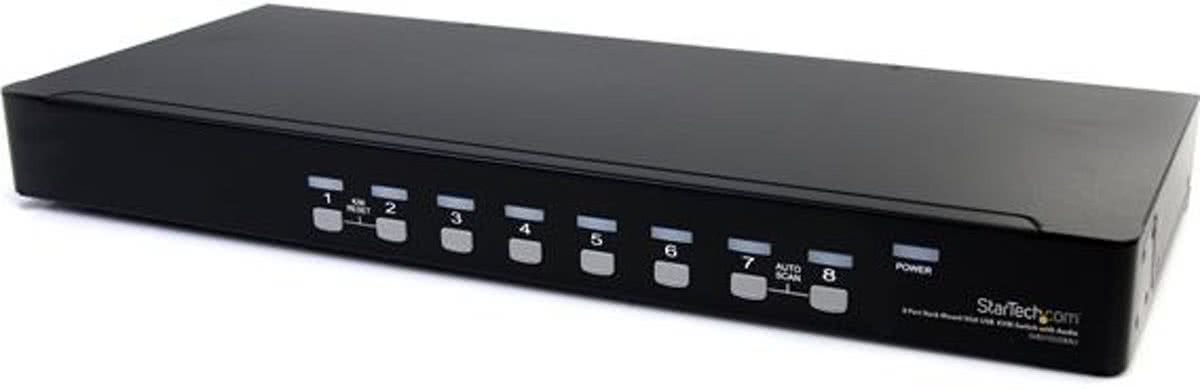 8 Port USB VGA KVM Switch with Audio