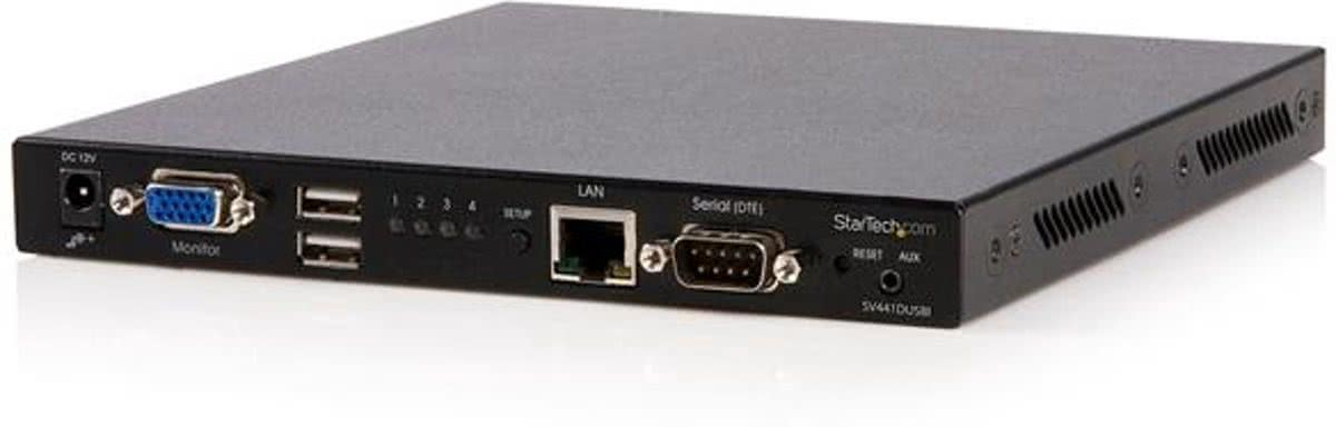 StarTech.com 4-poort USB VGA IP KVM-Switch met Virtuele Media