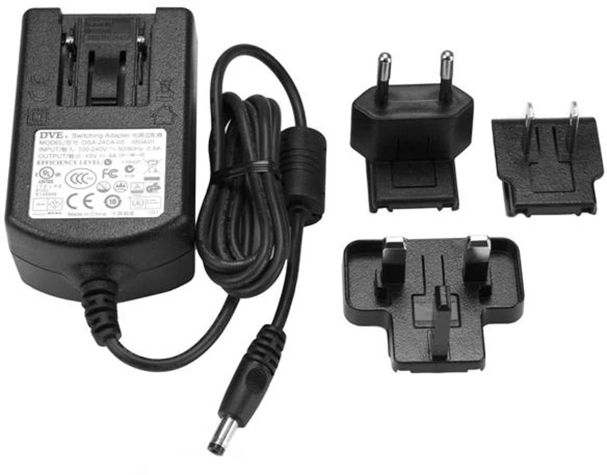 StarTech.com DC power adapter 5V, 4A voedingsadapter