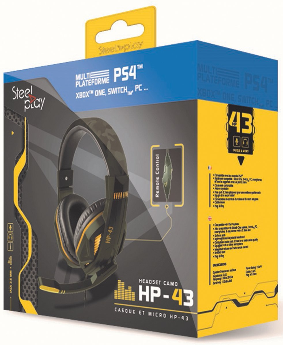 HP-43 Gaming Headset Green Camo - PS4 / Switch / Xbox One / PC