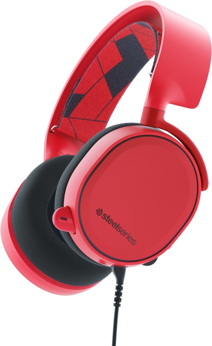 SteelSeries Arctis 3 - Surround Gaming Headset - Solar Rood - Multi Platform