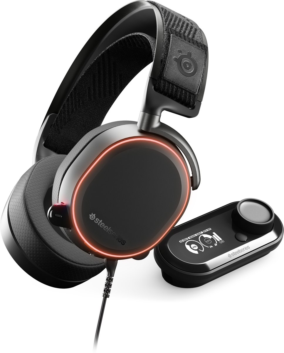 SteelSeries Arctis Pro GameDAC RGB - High Resolution Gaming Headset - PC + PS4