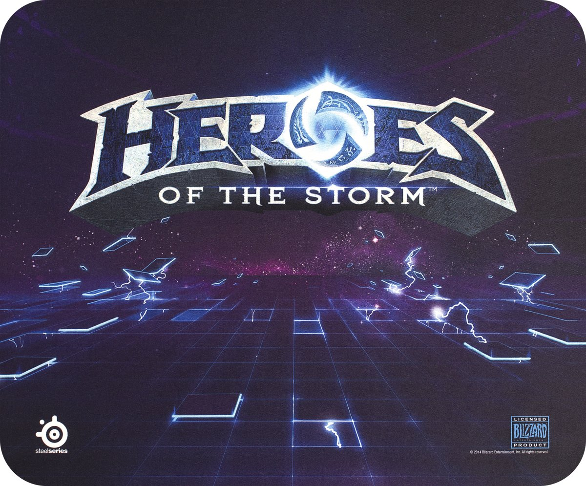SteelSeries QcK Heroes of the Storm Edition - PC + MAC - Gaming Muismat