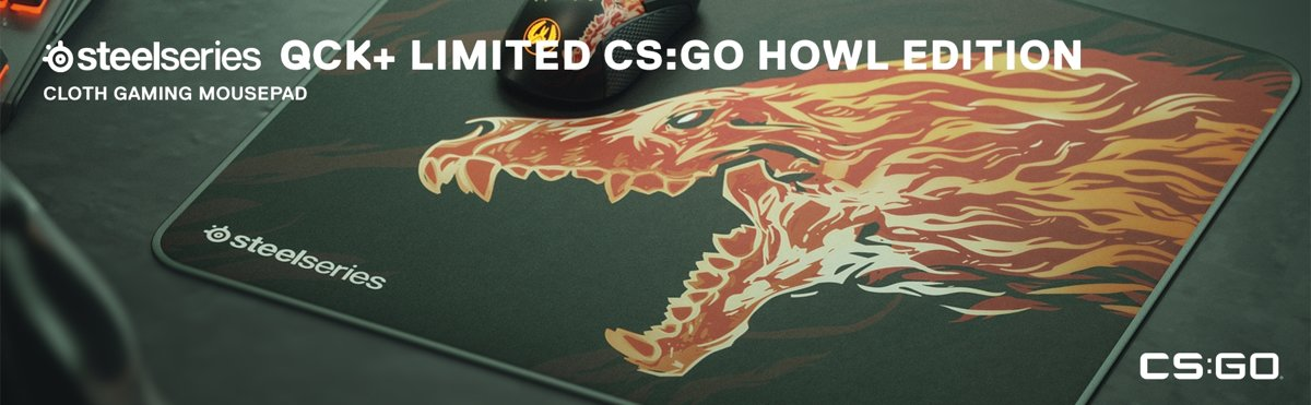 SteelSeries Qck+   - CS:GO Howl Edition