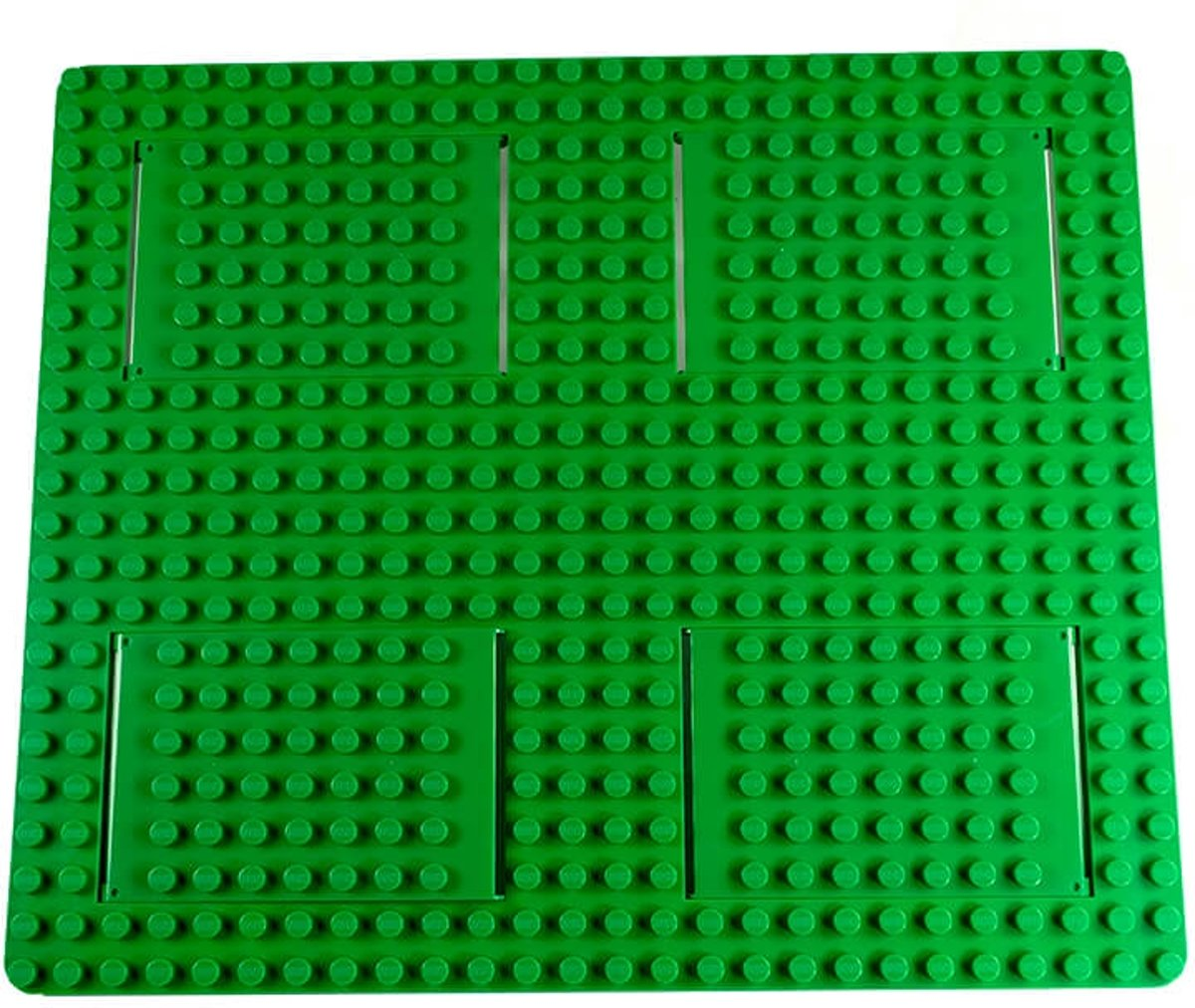 Strictly BRIKS BBT2622GR Bouwplaat 26x22 BIG BRIKS Trap and Gap Groen
