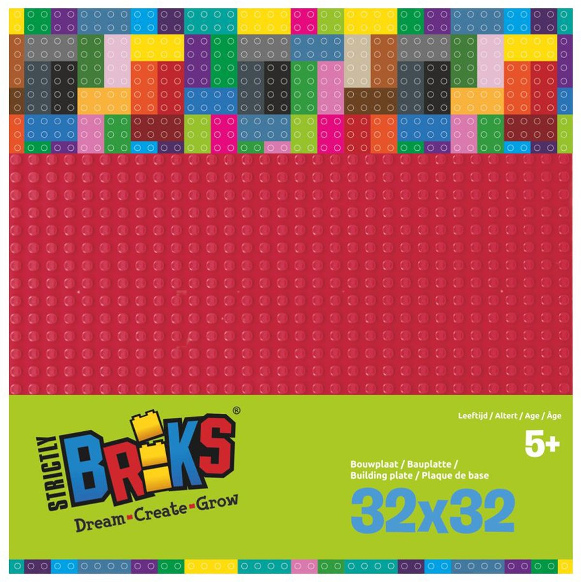 Strictly BRIKS LBP32DR Bouwplaat 32x32 Donkerrood