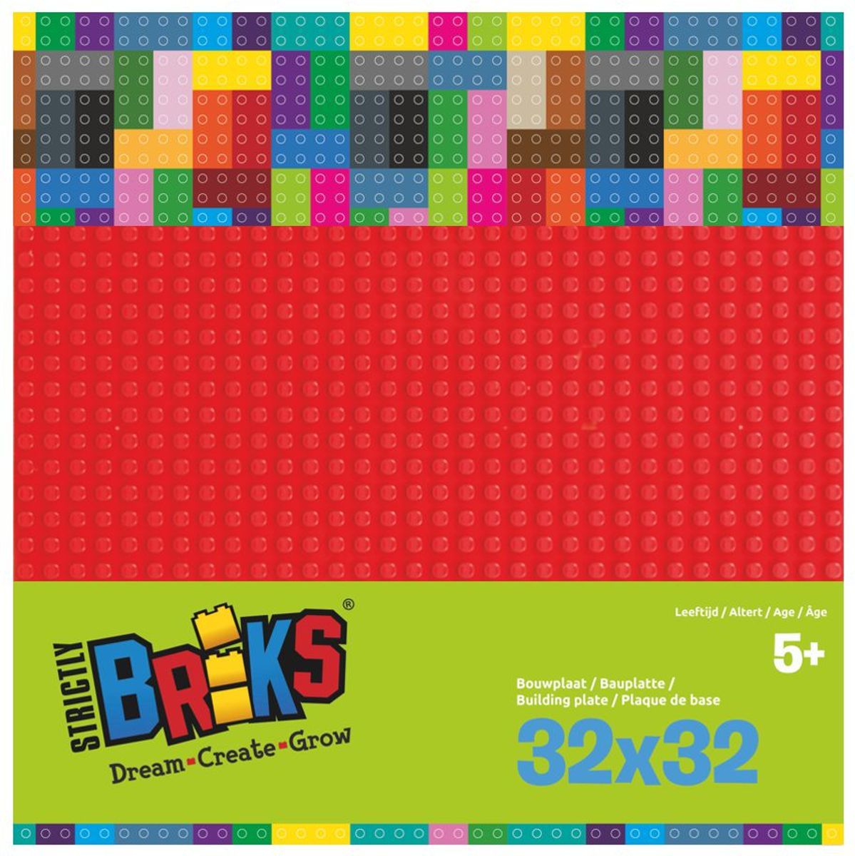 Strictly BRIKS LBP32RD Bouwplaat 32x32 Rood