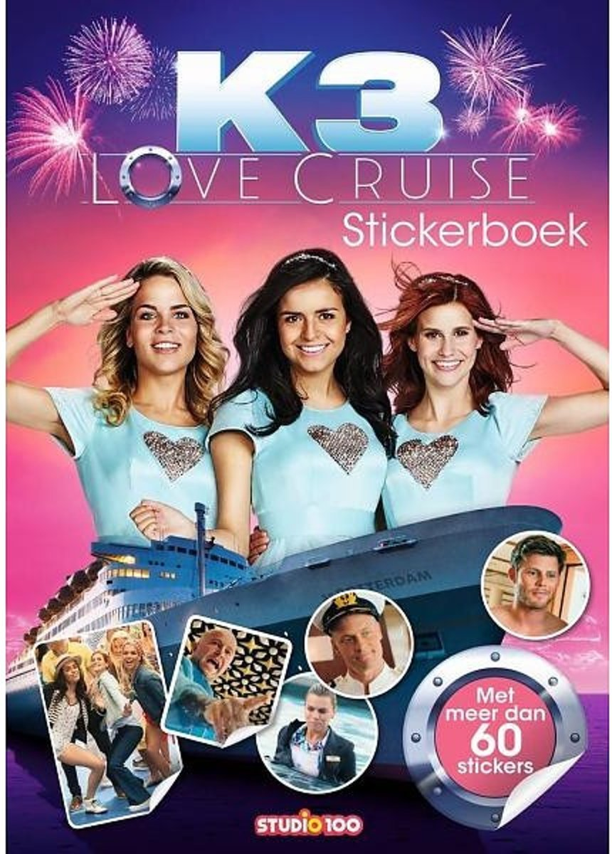 Studio 100 Stickerboek K3 Love Cruise 30 Cm