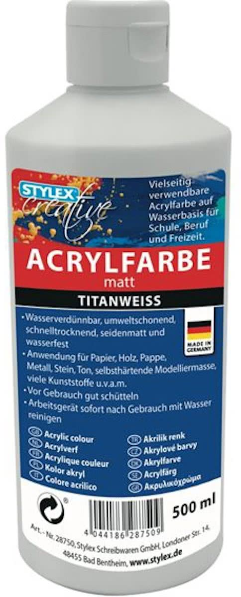 ACRYLVERF 500ML WIT