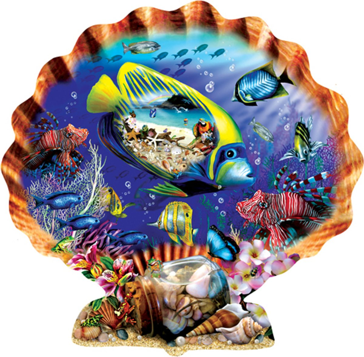 Souvenirs of the Sea - Sunsout Shaped puzzle