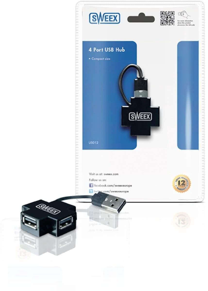 4 Port USB   Black