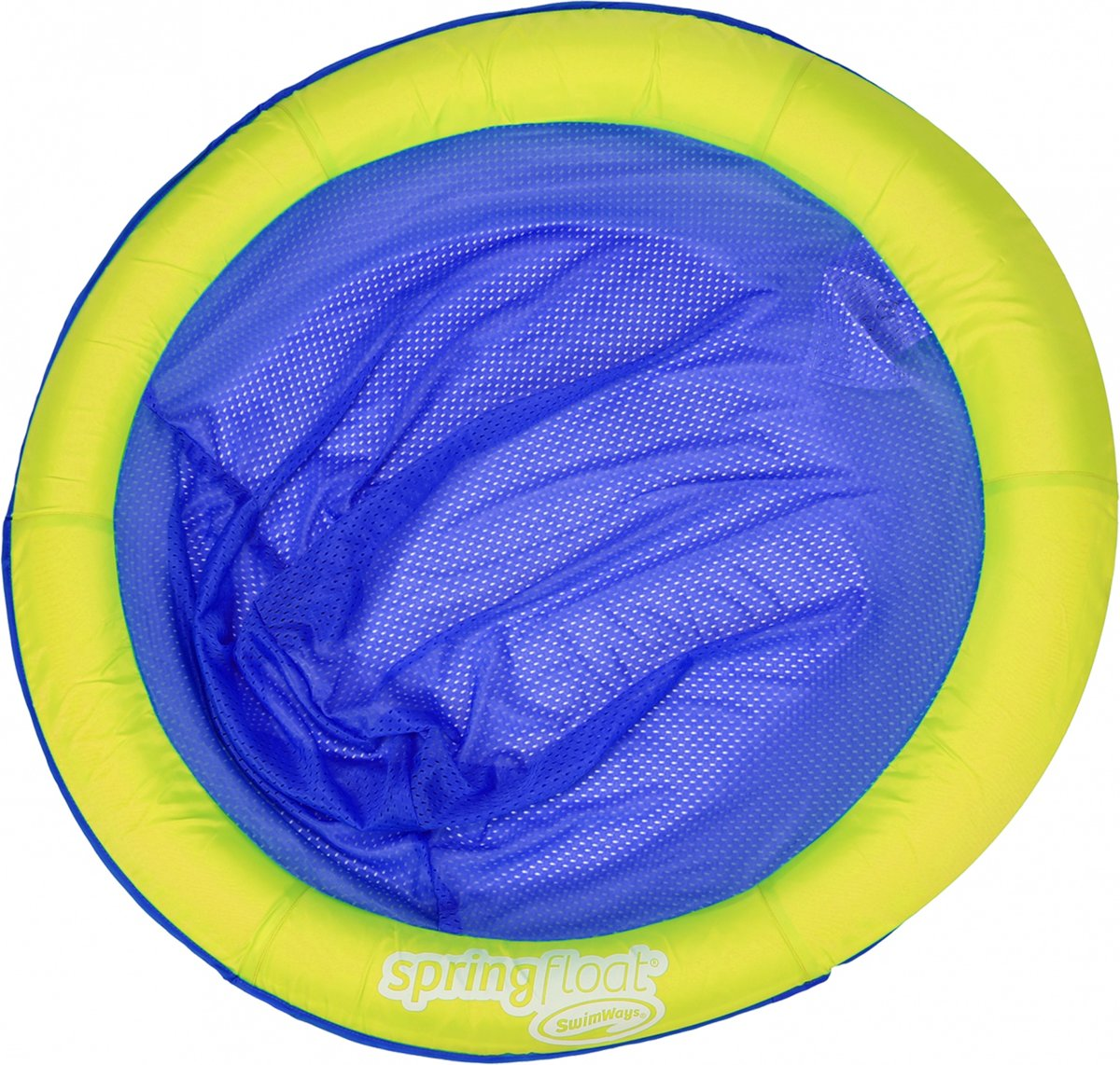 Swimways Luchtbed Spring Float Papasan 90 Cm Groen/donkerblauw