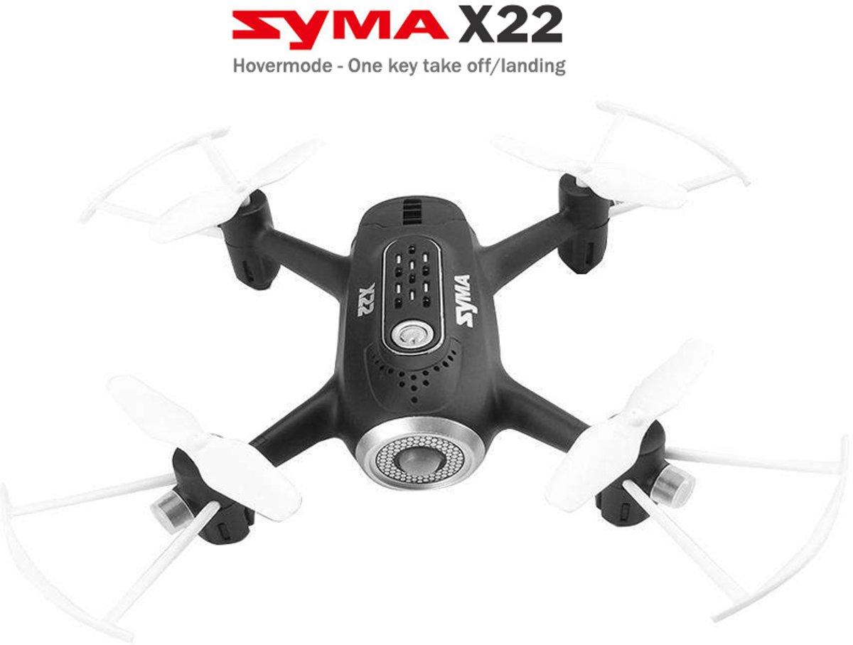X22  Mini Quadcopter / Drone - Hovermode (altitude hold) - One key take off / landing mode -  Black Edition