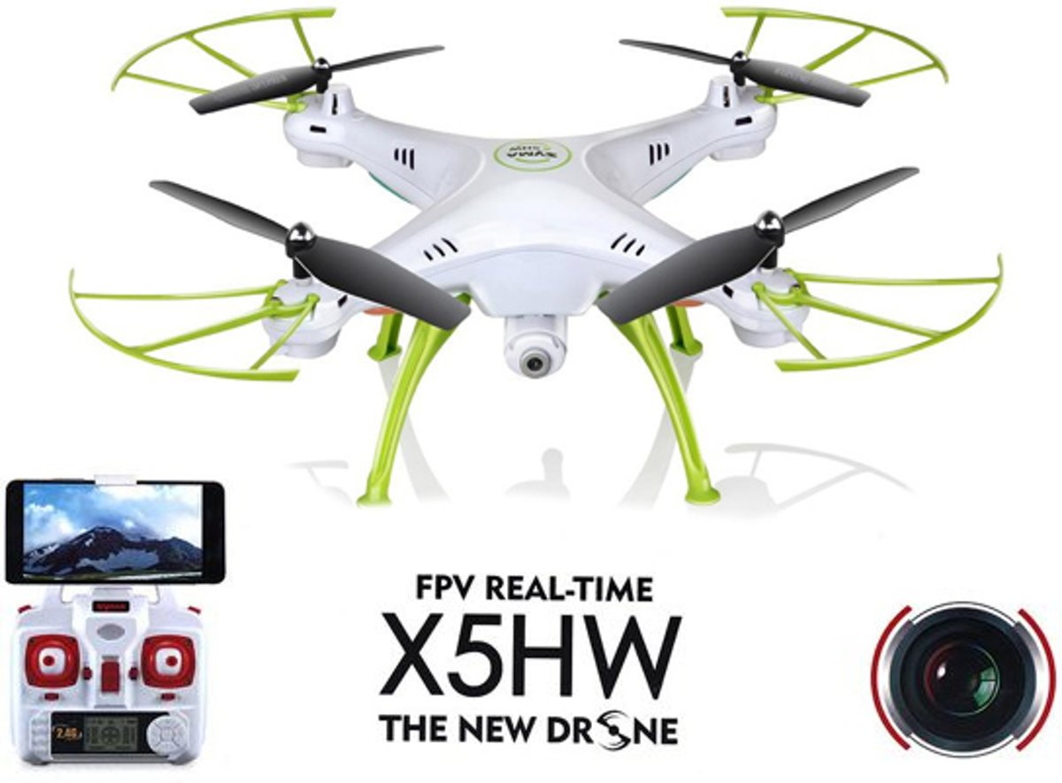 X5HW drone met HD camera FPV live wifi quadcopter -wit