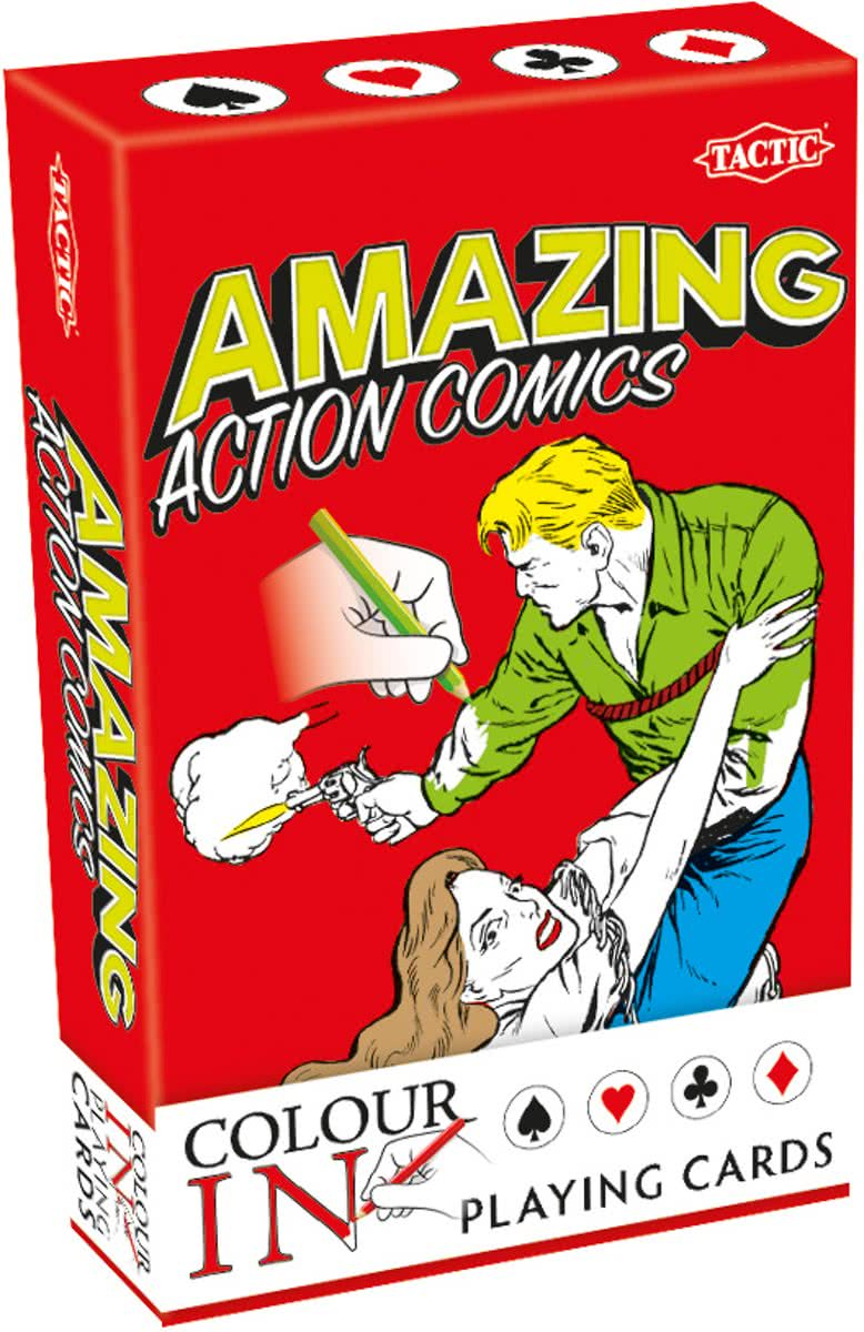 Colour-In Speelkaarten Amazing Action Comics