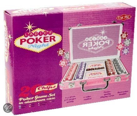 Ladies Poker Night Case met 200 Chips