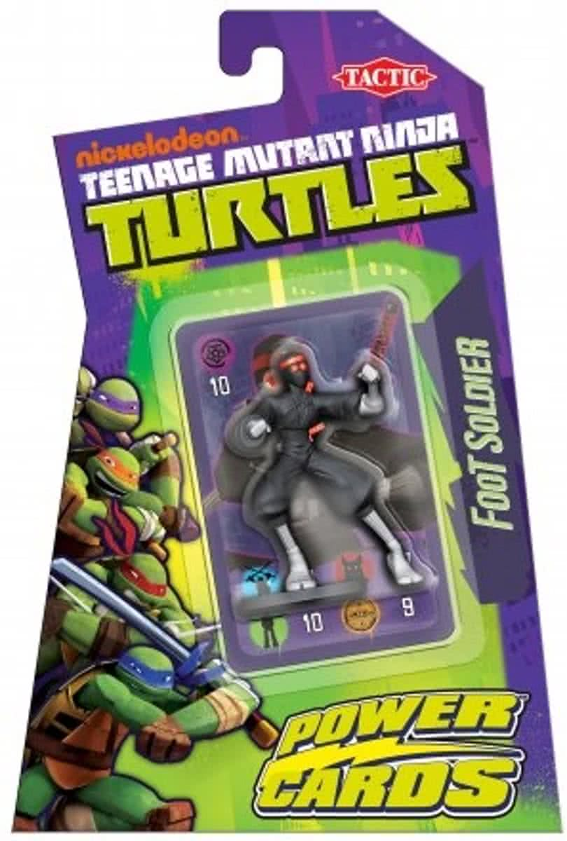 Teenage Mutant Ninja Turtles Power Cards Incl. Foot Soldier Figure - Kaartspel