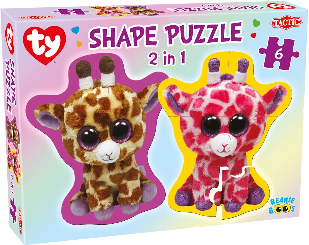 Ty Beanie Boos Shape Puzzle, 2 in , 6 pcs
