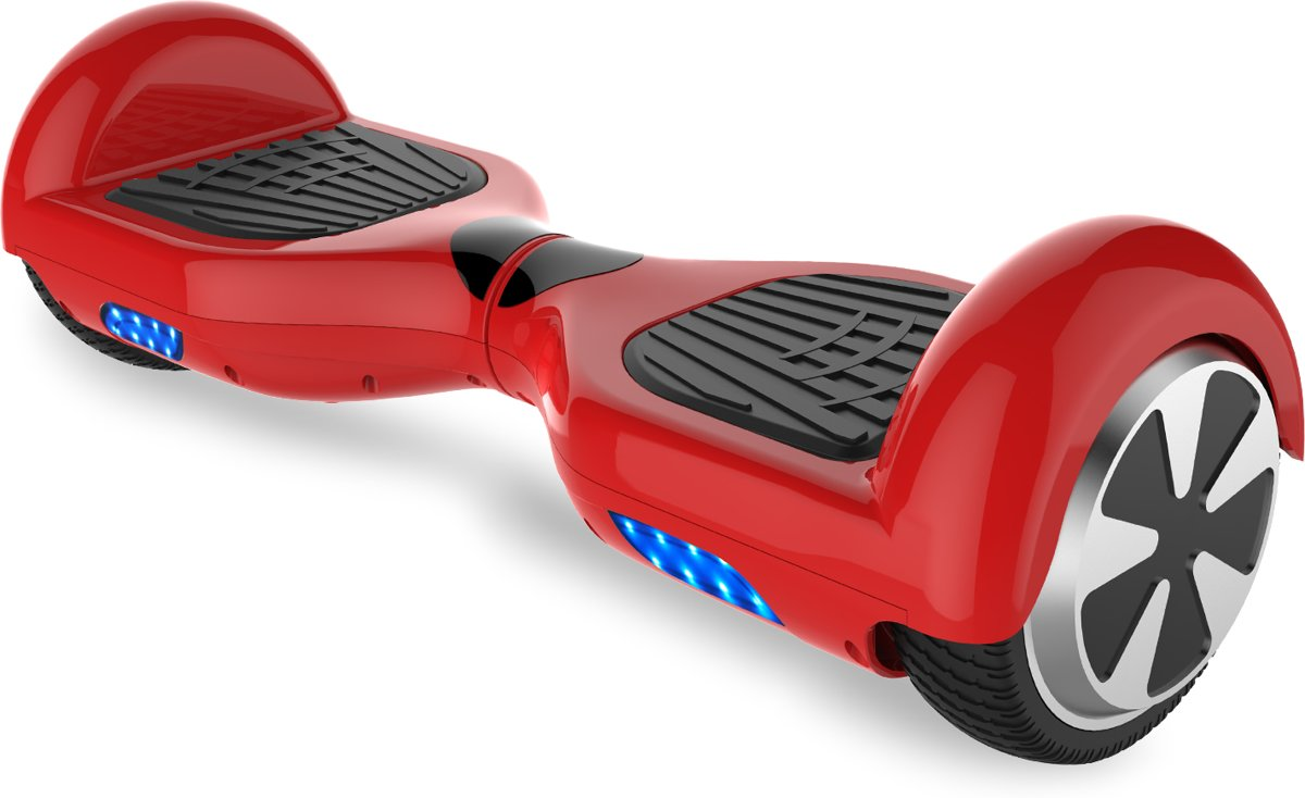 Tailwind Self Balancing Smart Hoverboard Balance Scooter 6.5 inch/ V.5 Bluetooth speakers/ LED Verlichting /speciaal ontwerp - Rood