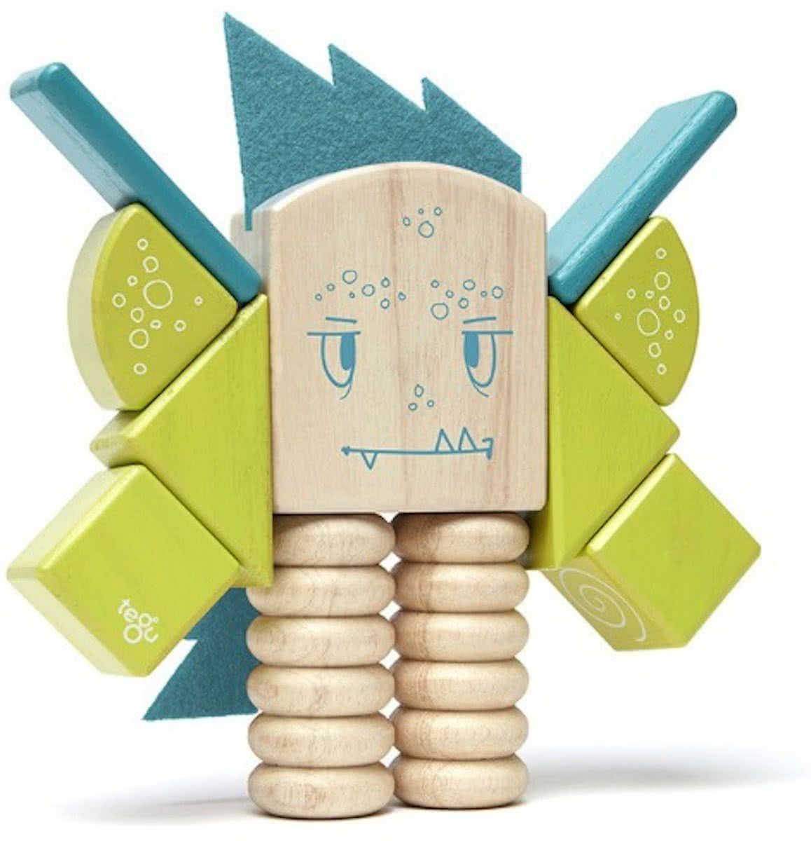 Tegu ZIP ZAP Magnetic Wooden Block Set
