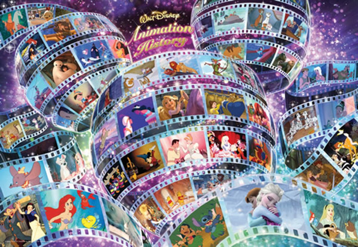 Legpuzzel History of Disney Animation 1000 stukjes