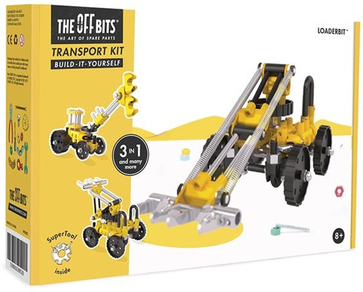 The Offbits Bouwpakket Transporter Kit 3-in-1 Geel