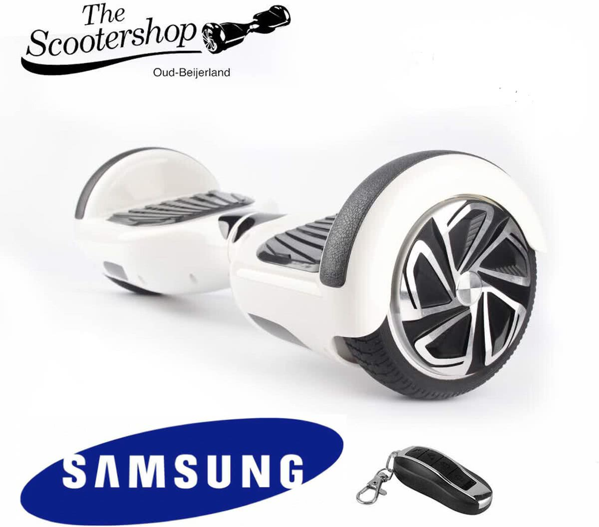 The Scootershop - 700 Watt Hoverboard met afstandsbediening - taotao - 20cell Samsung - Wit