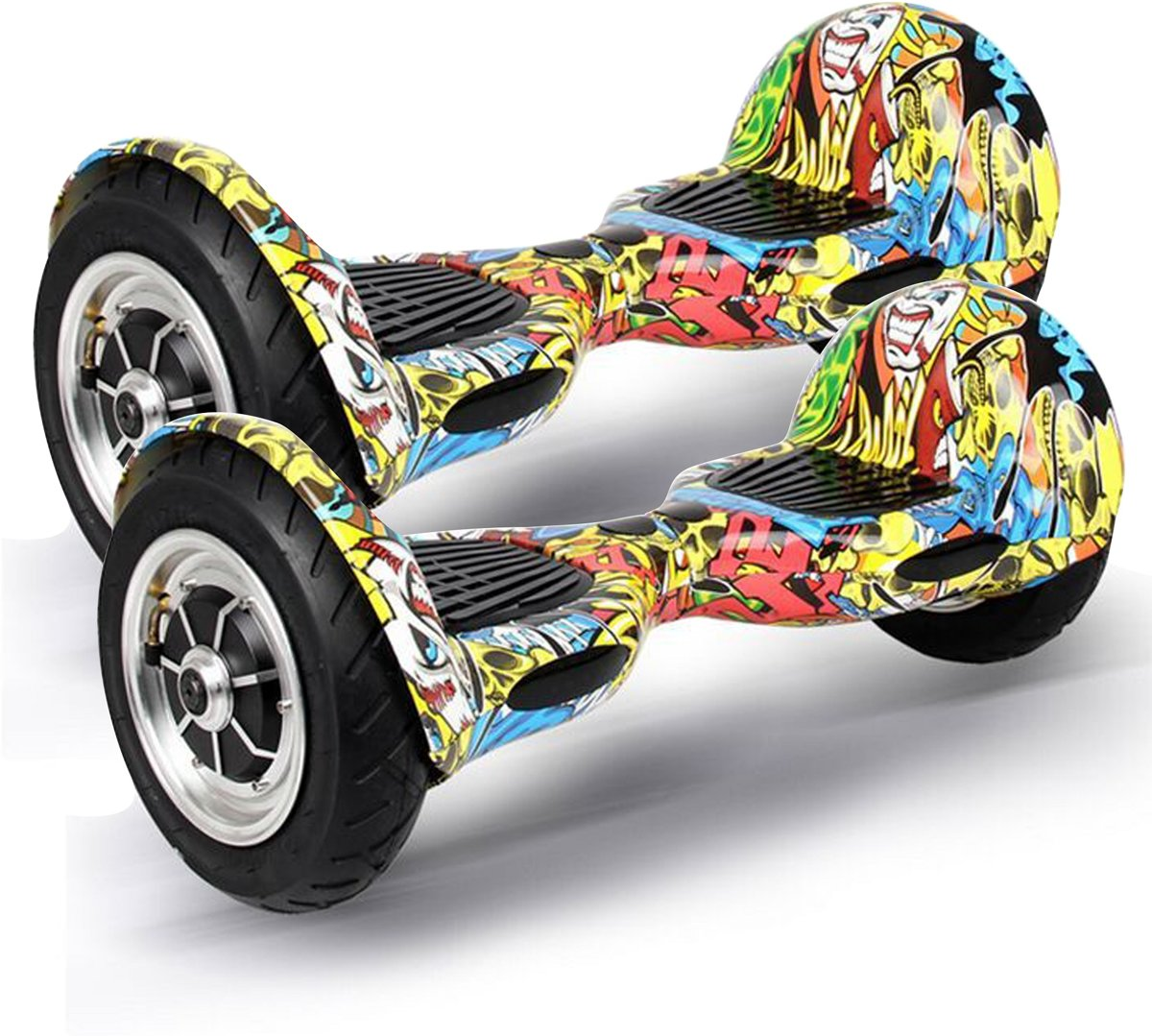 The Scootershop HOVERBOARD 10inch Luchtbanden 700W GRAFFITI Samsung 20cell accu, TaoTao Print