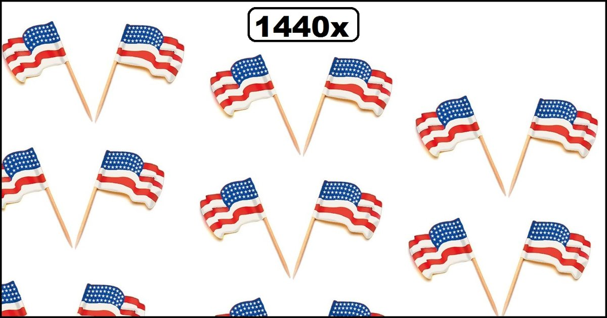 1440x Cocktailprikker wapperende vlag USA