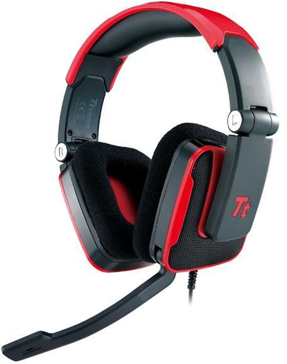 Tt eSports Shock Gaming Headset - Blasting Red Edition Rood PC