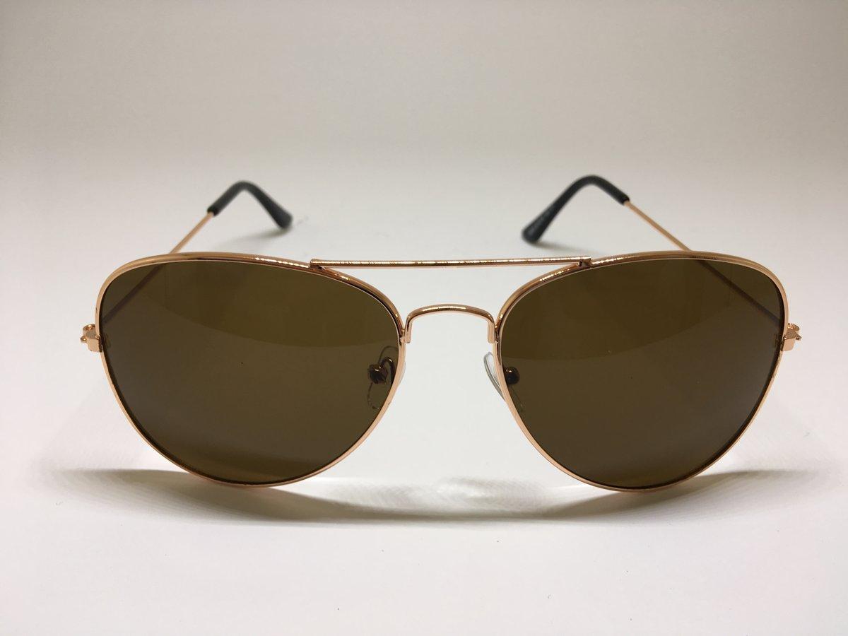 62f3746f7ac0 Rose goud pilotenbril - piloten zonnebril - aviator sunglasses ...