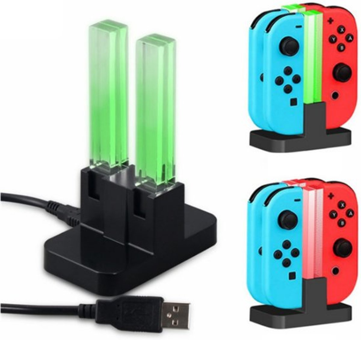 Oplaadstation - QUAD Charging Dock Nintendo - Switch Joy-Con - 4 Controllers