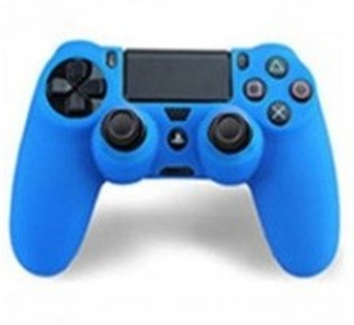 PS4 skin case - PS4 controller siliconen cover blauw