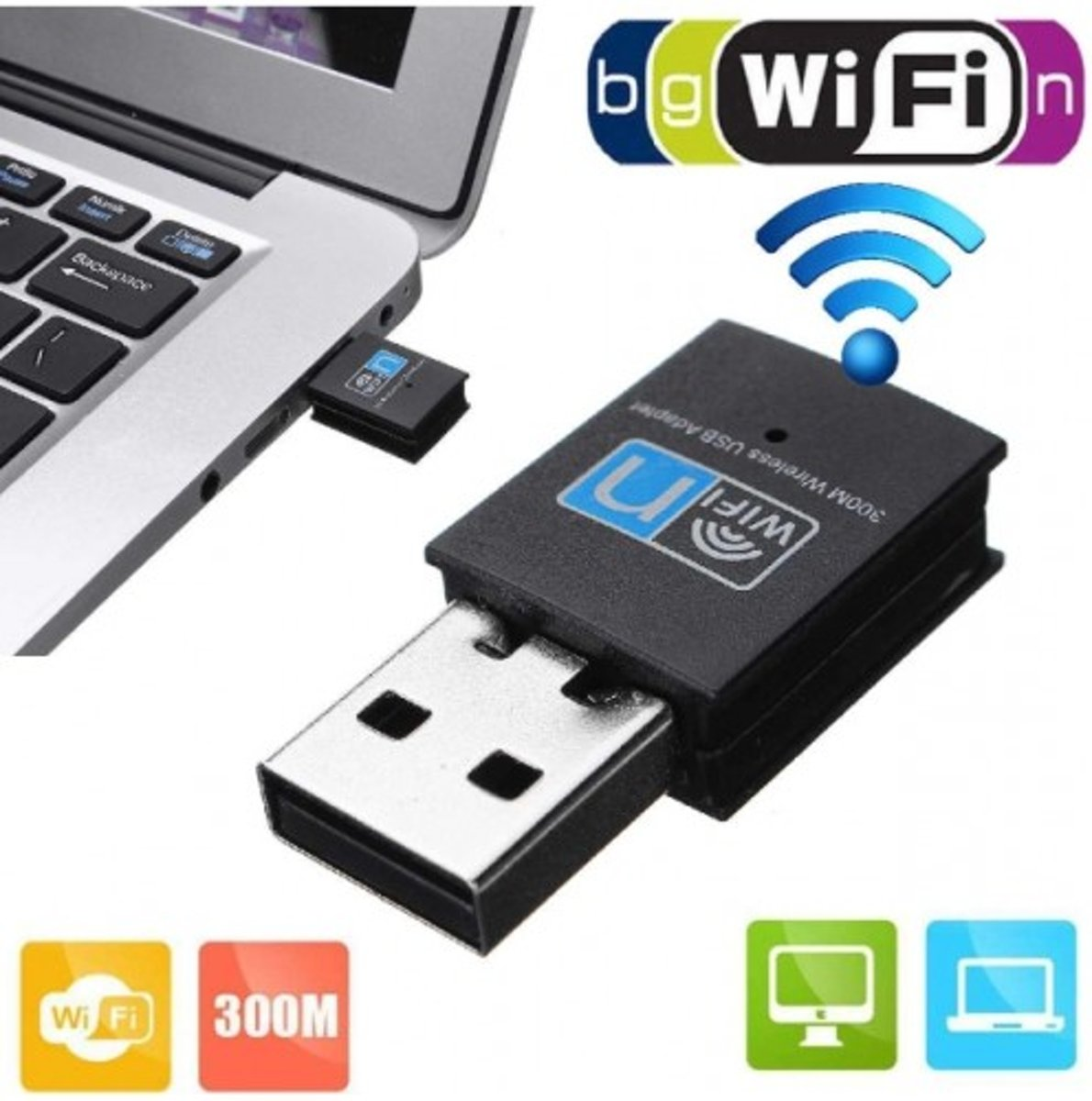 Wireless wifi dongle 300 Mbps super snel adapter