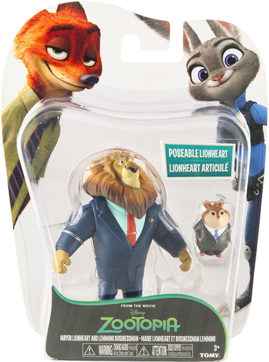 Zootropolis Speelfiguren - Mayor Lionheart & Lemming Businessman