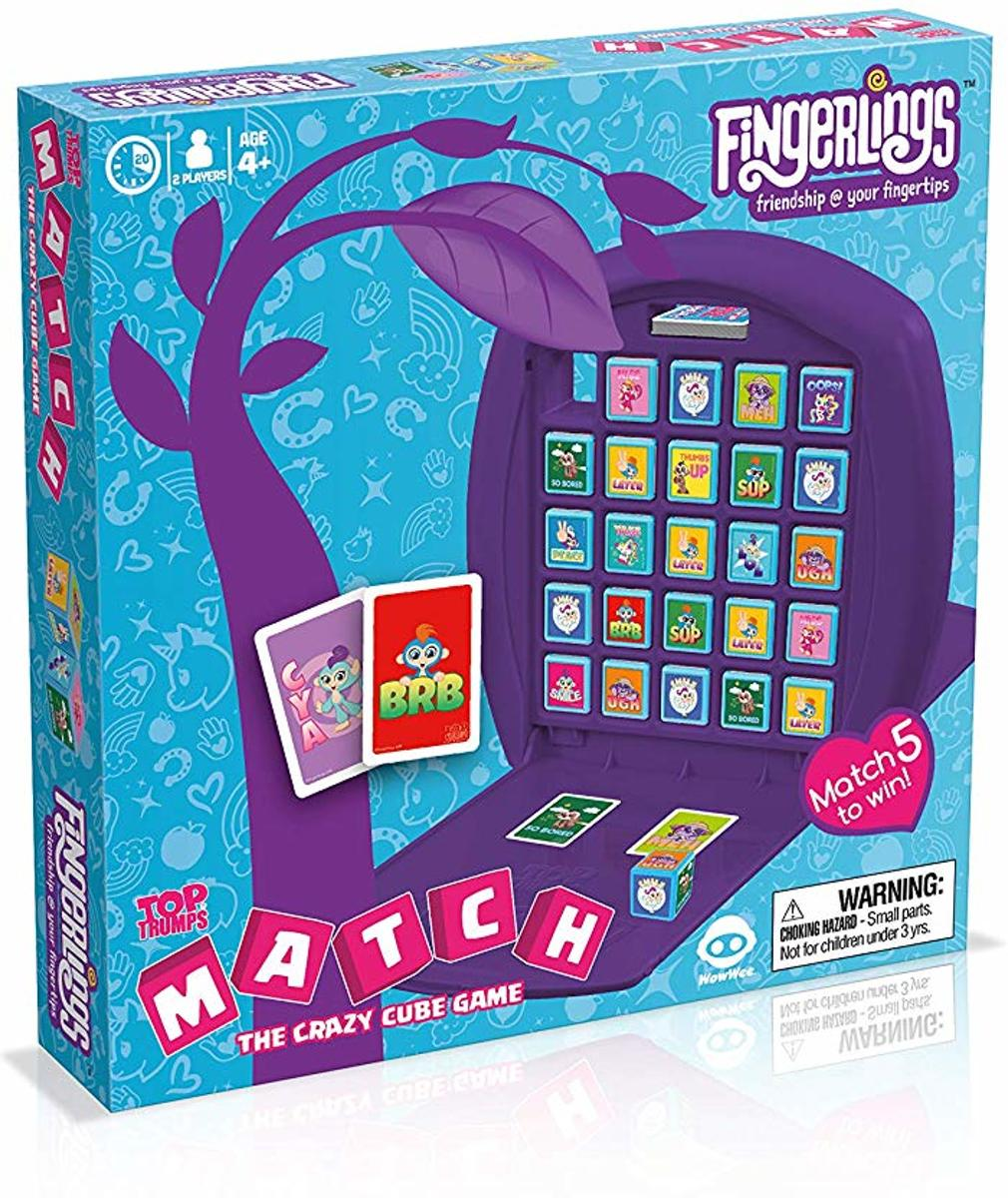 Fingerlings Top Trumps Match Board Game