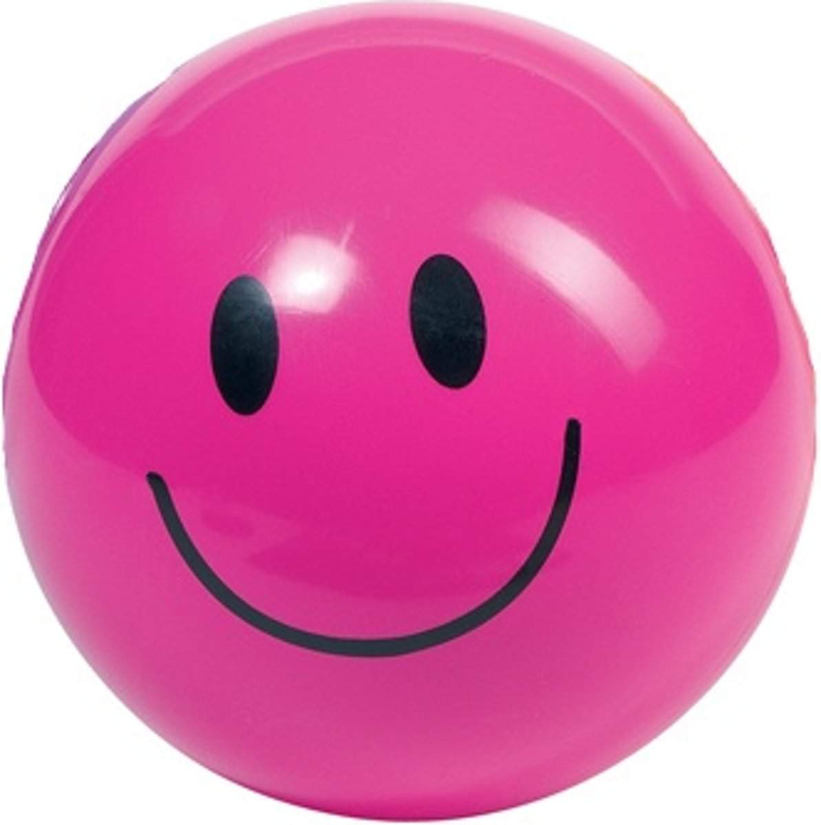 Opblaasbare bal: smiley roze
