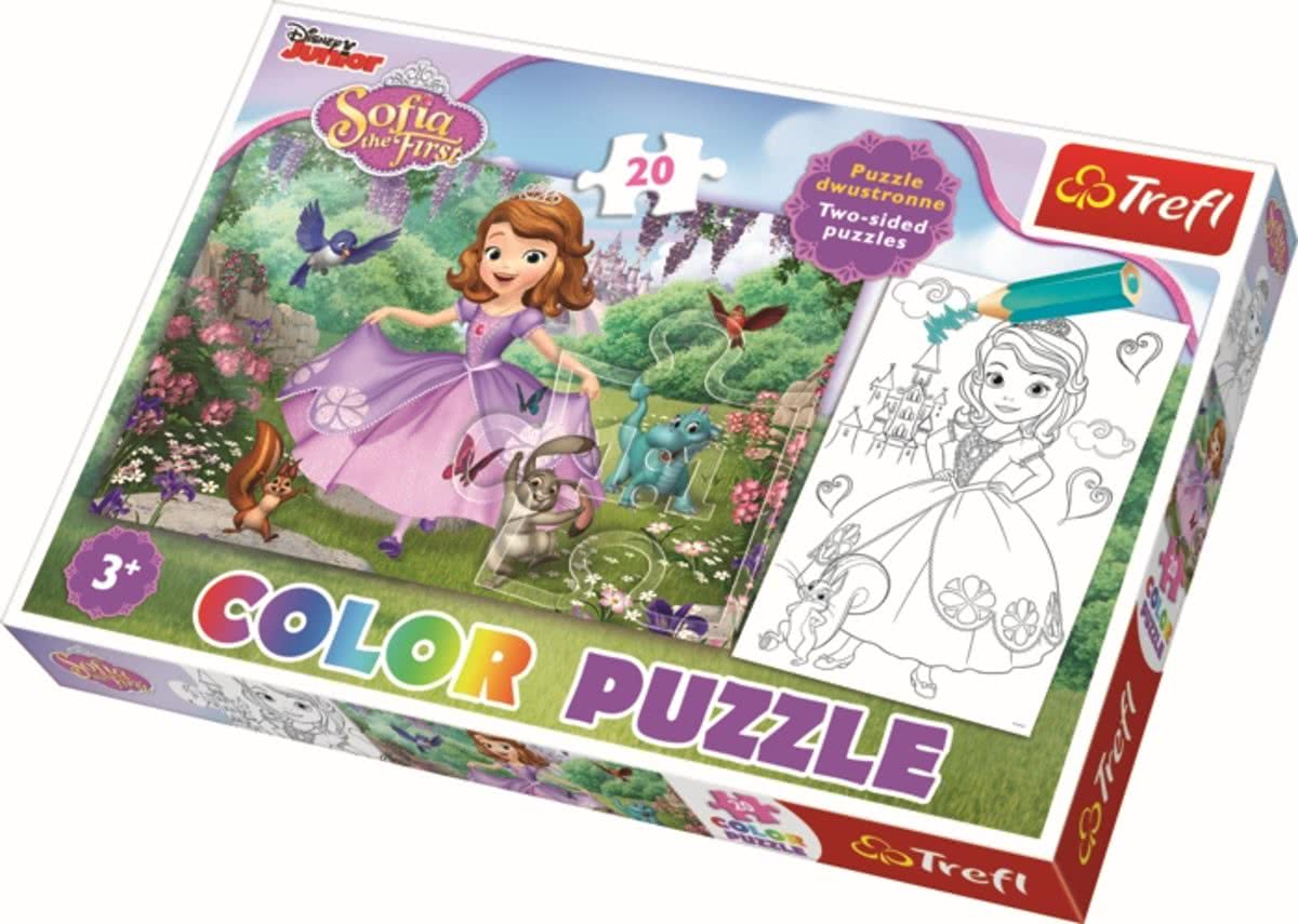 Color Puzzel 20 pcs - Sofia among the trees / Disney Legpuzzel