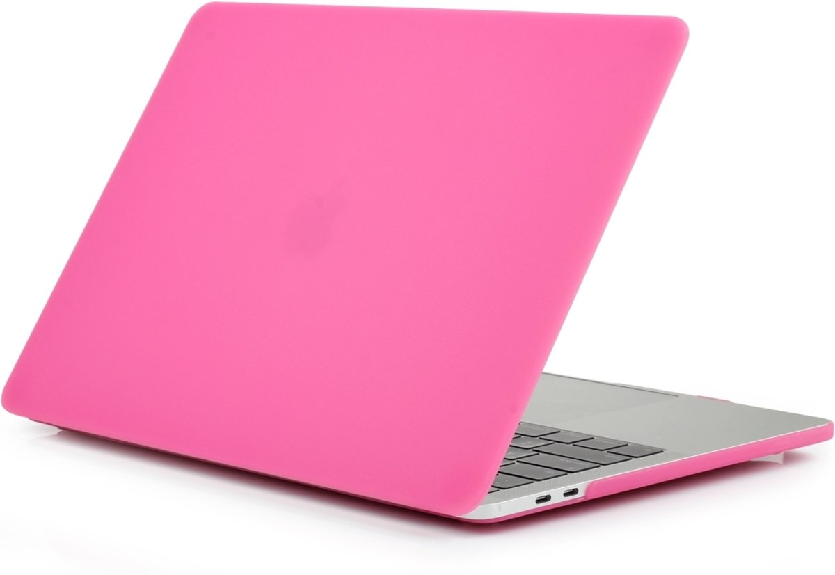 Macbook Pro 15,4 Inch (2016 / 2017 / 2018) Premium bescherming matte hard case cover laptop hoes hardshell + dust plugs |Roze /Pink|TrendParts|(A1707 / A1990)