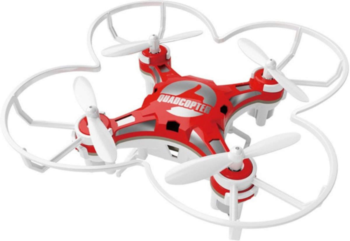 Mini Quadcopter - Pocket Drone - Drone - RC - Drone Omschakelbaar - Kinderspeelgoed - Rood